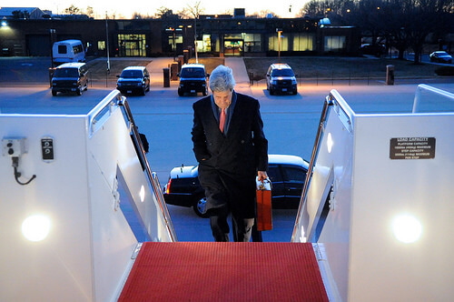 Kerry traveling to London on March 14