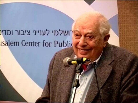 Bernard Lewis, at the Jerusalem Center for Public Affairs