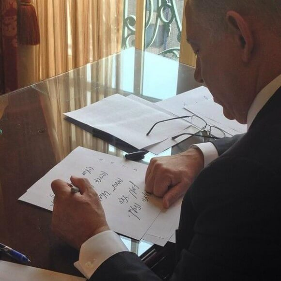 Netanyahu puts finishing touches on his speech, per his twitter feed
