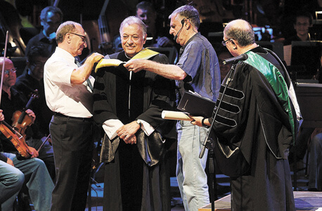 Mehta receiving honory doctorate