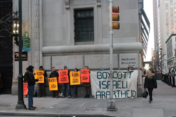 JNF protest, Philadelphia, Feb. 27