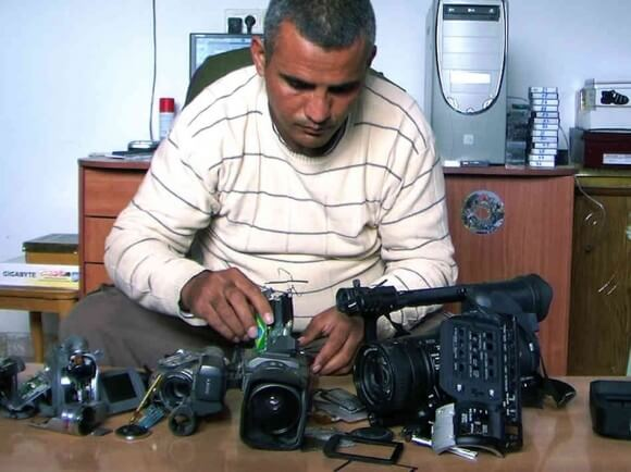 Emad Burnat in 5 Broken Cameras