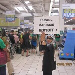 BDS action in France. (Photo via The Alternative Information Center)