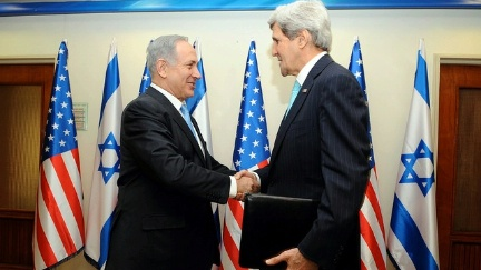 Kerry and Netanyahu, State Department photo