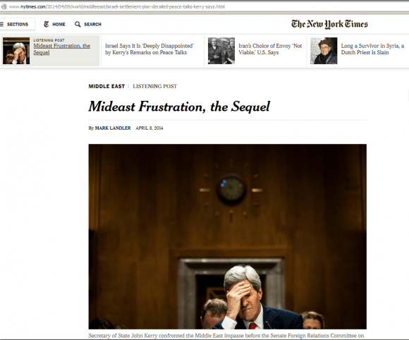 The New York Times changed the headline but not the web address. (Screenshot via talknic)