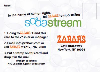 SodaStream protest details