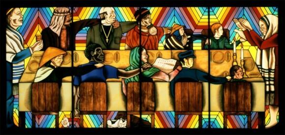 Rainbow Shabbat, by Judy Chicago.