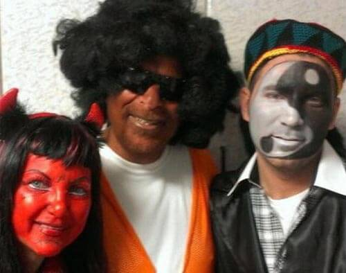 "Dov Hikind, pictured here in blackface, described the mock eviction notices as ""pure hate."""