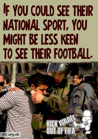 Kick Israel out of FIFA (graphic: Steph Westbrook)
