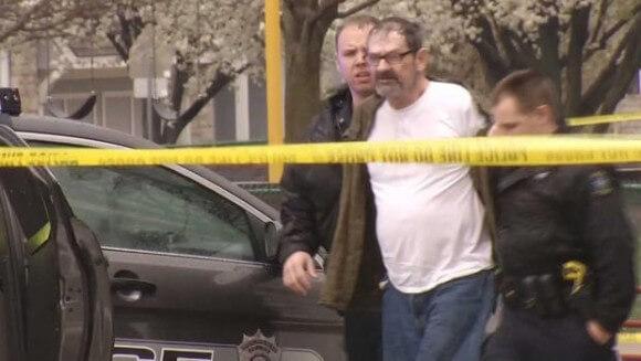 Frazier Glenn Miller in police custody, April 13, 2014. (Screenshot: KCTV)