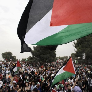 "Thousands of Palestinian citizens of Israel participated in a rally and ""March of Return"" on May 6, 2014 to commemorate the Nakba, chanting ""Your 'independence' day is our Nakba"" as Israel marked its 66th Independence Day. (Photo: Ammar Awad/Reuters)"