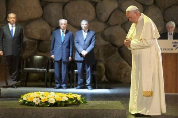 Pope at Yad Vashem