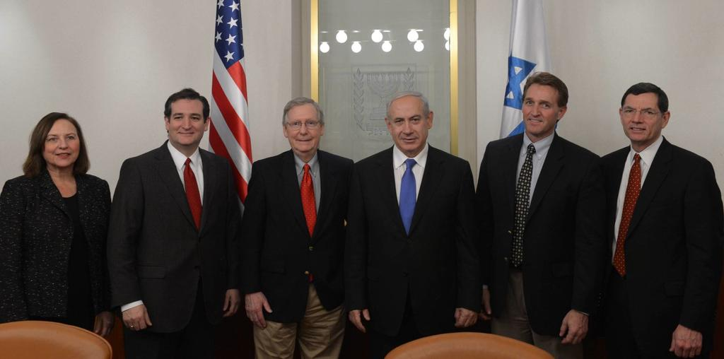 Ted Cruz twitter picture with Netanyahu and McConnell, in 2013