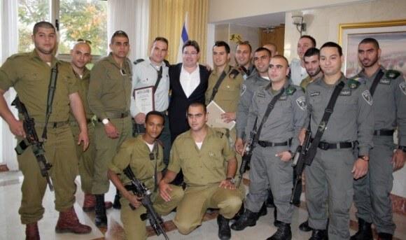 Palestinian Christians pictured at an Israeli Christians Recruitment Forum event. (Photo: IDFBlog.com)