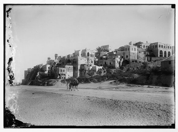 Jaffa: General view from the south beach looking north, 1898-1914. Matson Collection.