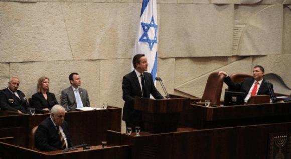 UK Prime Minister David Cameron addresses the Knesset (Photo: Knesset spokesperson/Times of Israel)