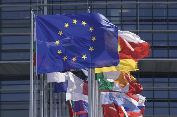 EU flag, before European flags
