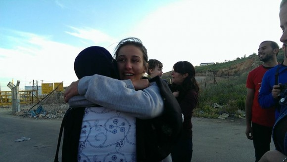 Mariam Barghouti being released from Ofer Military Court. (Photo: Free Mariam Barghouti/Facebook)