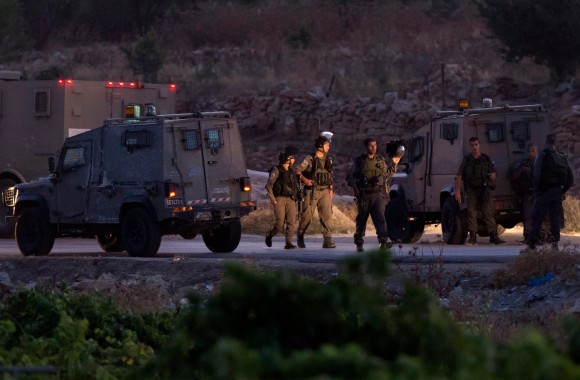 Israeli military in Halhul on Monday. (Photo: Jim Hollander/European Pressphoto Agency)