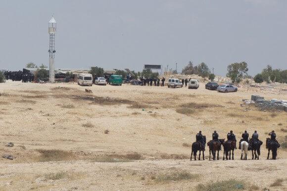 The demolition al-Araqib on 6/12/2014 (Photo: Julie Pronier)