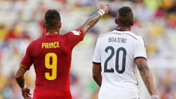 The two Boatengs, during the Ghana Germany match