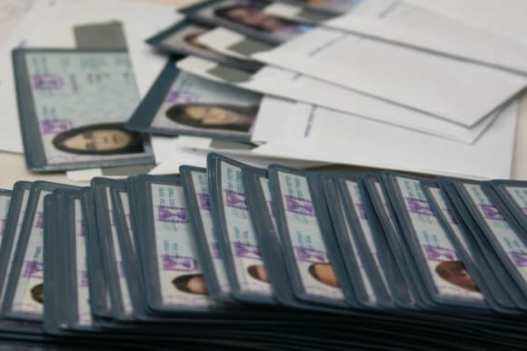 Israeli ID cards in an immigration absorption center in Jerusalem, January 22, 2008 (Photo: Anna Kaplan/Flash90)