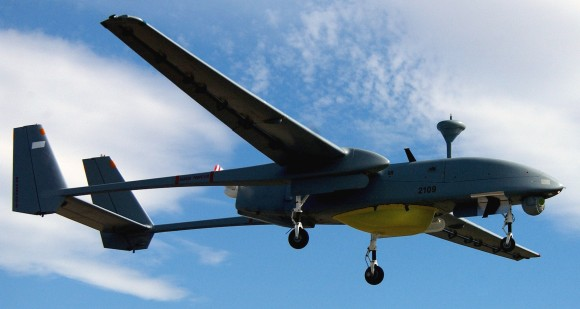 An Israeli-made drone.  Technion, the site of a traveling art show that has come under criticism, creates drone technology for the Israel army. (Photo: US Air Force)