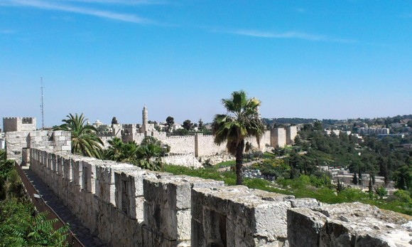 Old City surrounded by the Walls of Jerusalem, May 2014 (Photo: Rebecca Burkert)