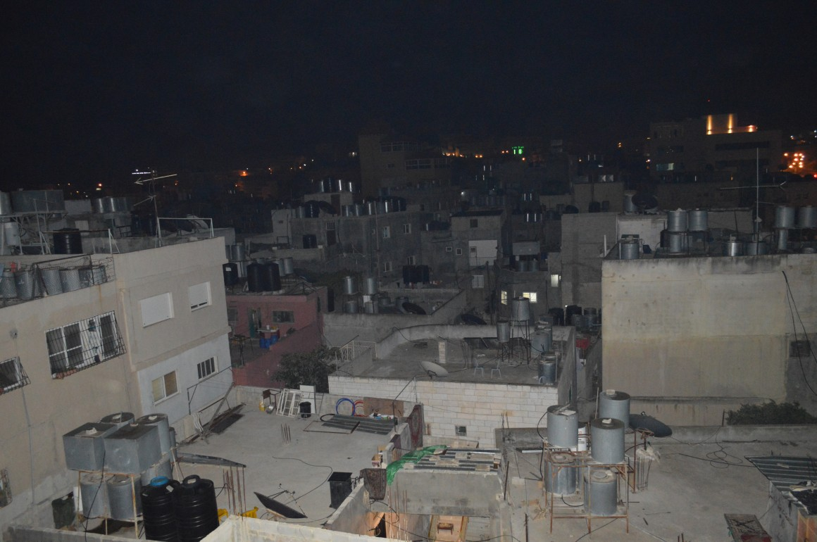 The view from the Najar's family home, which was used as a viewpoint by the IDF. (Photo: Sheren Khalel)