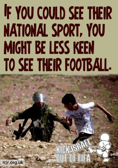 Kick Israel out of FIFA (graphic: Stephanie Westbrook)