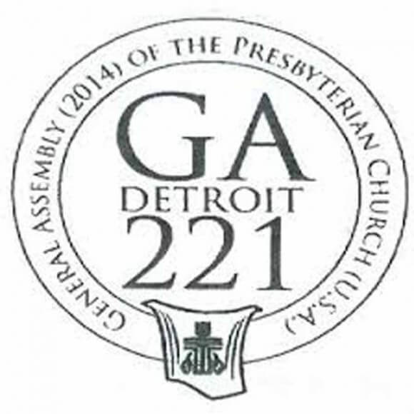 Logo for Presbyterian GA this month in Detroit