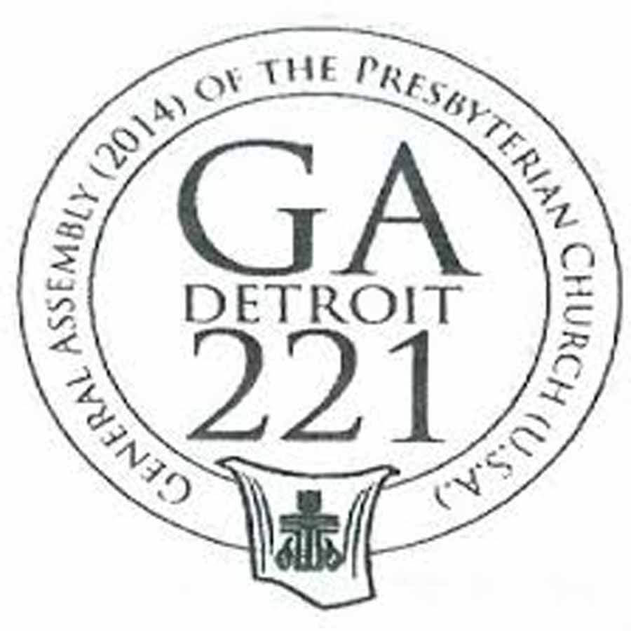 Logo for Presbyterian GA this month in Detroit