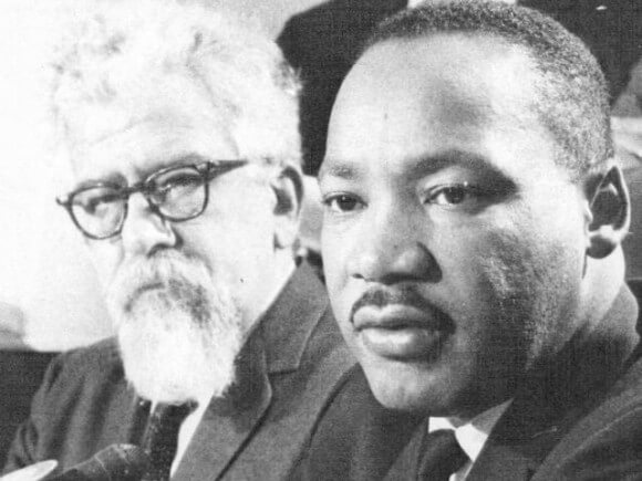 Joshua Heschel, left, and Martin Luther King Jr.