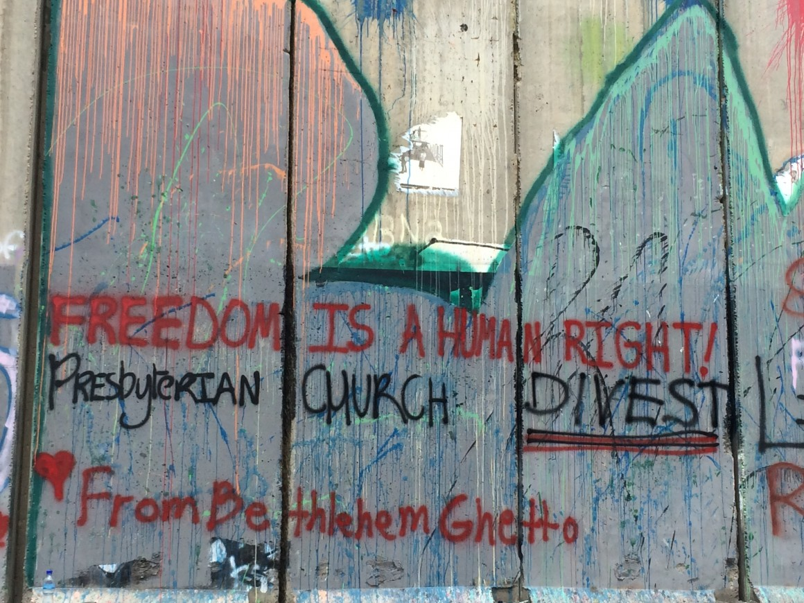 """Freedom is a Human Right!  Presbyterian Church Please DIVEST"""