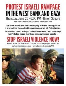 Flyer for June 26 demonstration