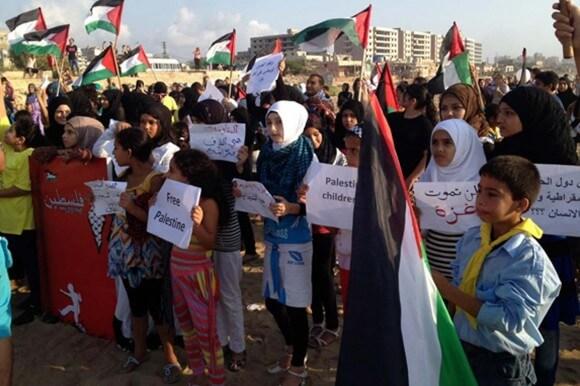 Lebanon, Palestinian refugees commemorate Gaza massacre (photo: Amith Gupta /Yeou-Shiuh Hsu MEMO)