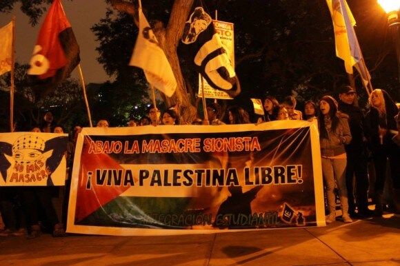 Peru (photo: Integración Estudiantil/MOVILIZACIÓN POR UNA PALESTINA LIBRE)
