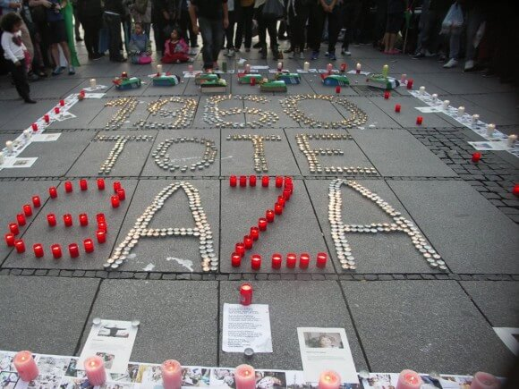 Munich Mourning the Dead in GAZA (photo: Sabine Gazawiyah) #DayofRage