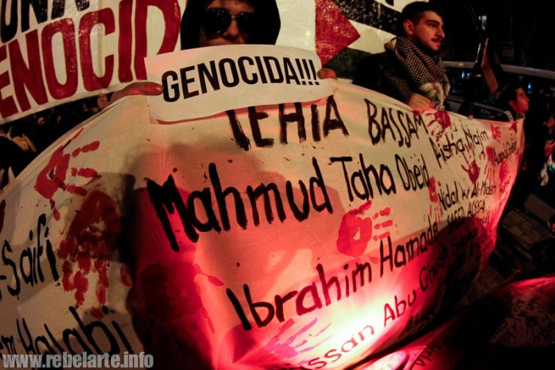 Solidarity protests in Montevideo, Uruguay (photo: RebelArte)