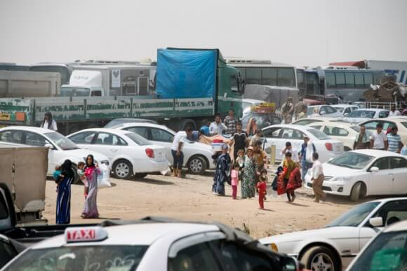 Checkpoint, Mosul, by Peggy Gish