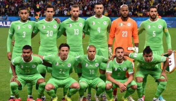 The 2014 Algerian World Cup team. (Photo: AFP)