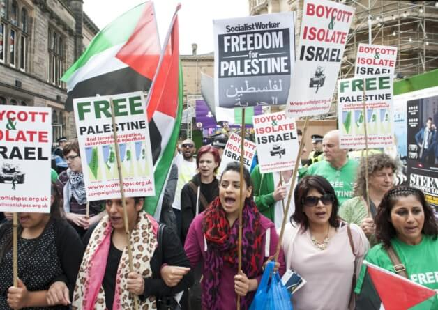 Edinburgh: Israeli theatre company show  cancelled after protests over Gaza (photo:Lesley Martin)