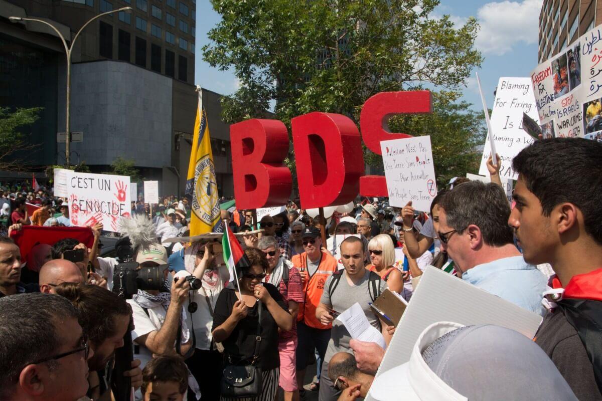 BDS protest in Montreal (Photo: Scott Weinstein)