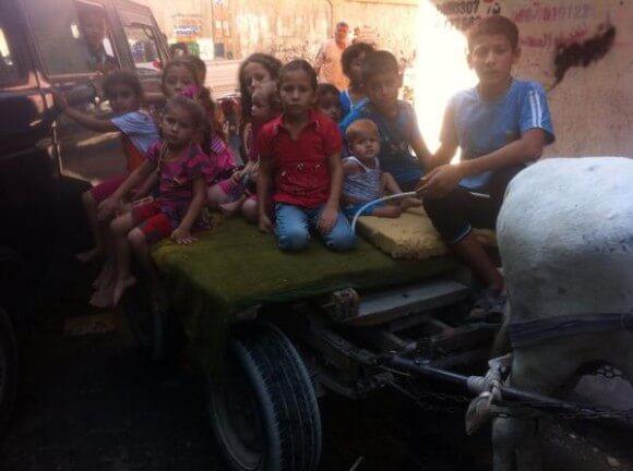 Children fleeing -- to where