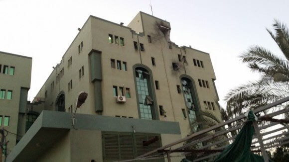 el Wafa Hospital, struck by missile