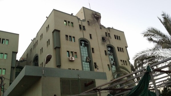 El Wafa Hospital, struck by missile (Photo: Manu Pineda)