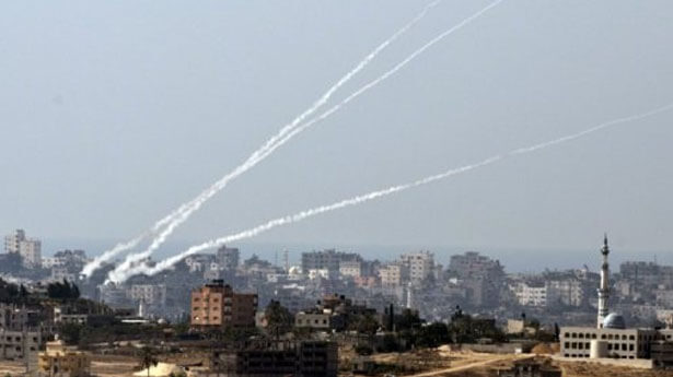 Gaza rockets fired at Israel, photo by AFP July 6