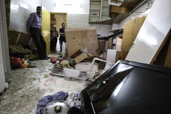 IDF searched all the kitchens in the home, emptying containers of sugar, rice and oil and breaking dishes, appliances and cabinets. (Photo: Kelly Lynn)
