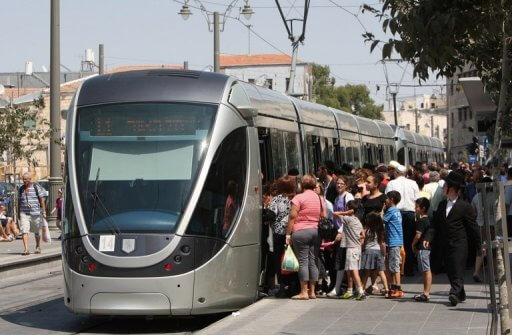 Jerusalem light rail train