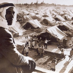 A Palestinian man overlooks the Jaramana Refugee Camp in Damascus, Syria in 1948. (Photo: Wikimedia Commons)